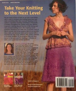 Knitting Beyond Scarves back cover