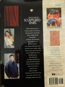 Sculptured Knits - back cover