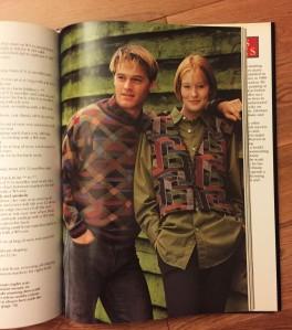 Lattice pullover and Mosaic vest