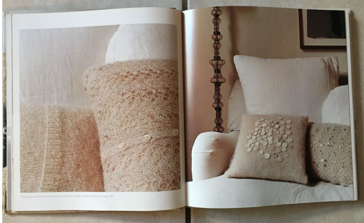 button and lace pillows