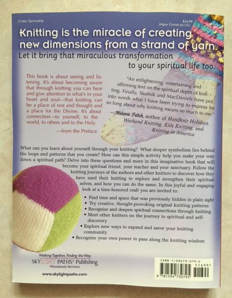 The Knitting Way - back cover