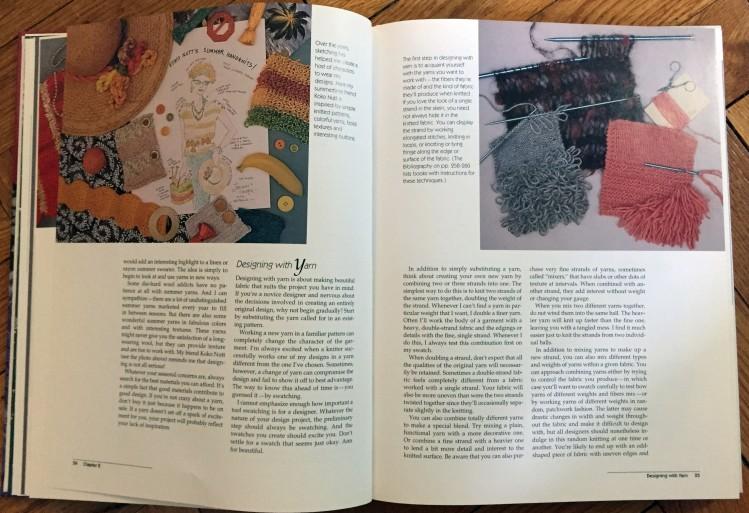 Designing Knitwear - sketching and swatching
