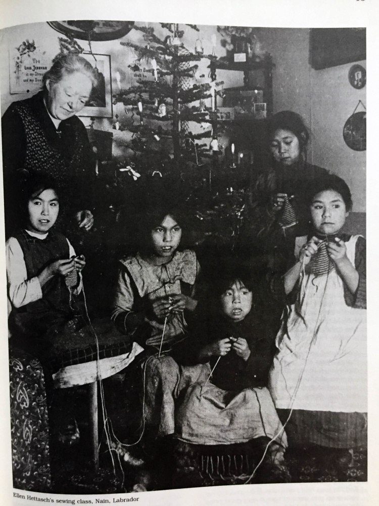 Knitting girls in Labrador