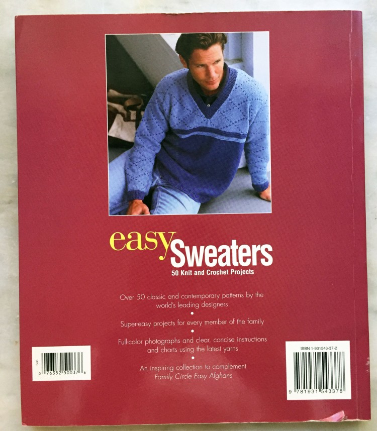 Family Circle Easy Sweaters - back cover