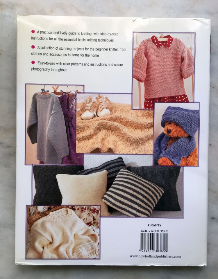 Learn to Knit - back cover